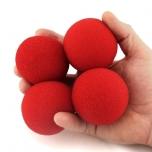 Поролоновые шарики для манипуляций (Goshman) 4см (красные)