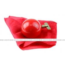 Превращение платочка в шар (красный)