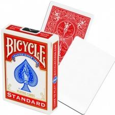 Карты Bicycle Standart красная рубашка/чистое лицо