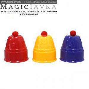Фокус со стаканчиками и шариками (7см)