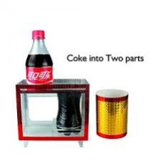 Распиливание бутылки кока-колы