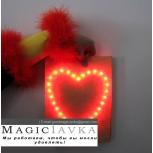 Пакет с огоньками сердце (красный) - Bag-O-Lites (Red)
