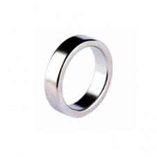 Магнитное кольцо гладкое (серебро)