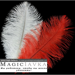 Страусиные перья для трюка с появляющейся и исчезающей тростью