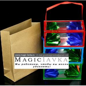 Появляющиеся коробочки с цветами - средний размер