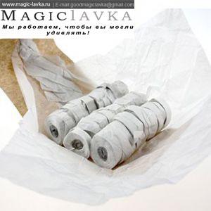 Растяжки для бросков (стримеры) в бумажной упаковке - 30 нитей (белые или разноцветные)